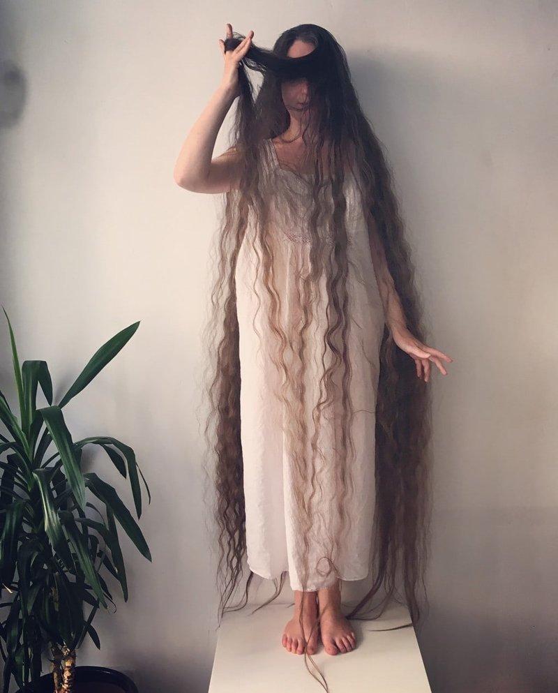 Девушка последовала совету мужчины Фрэнки Клуни, в мире, волосы, люди, рапунцель, уход