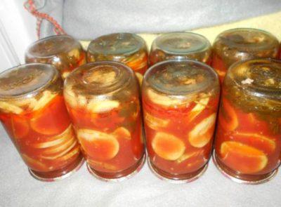 Кабачки в томатной заливке на зиму