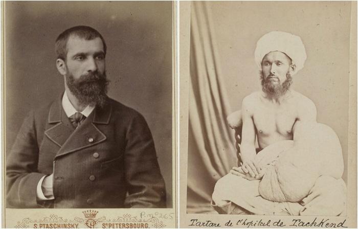 Портрет Жозефа Наполеона Мартена и татарина из Ташкента.