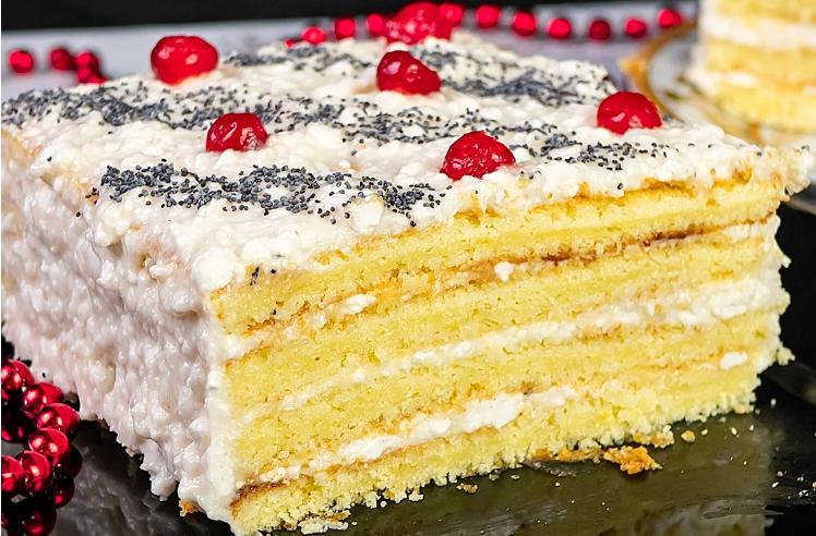 Домашний торт «Три стакана», который не нуждается в пропитке. Я влюбляюсь в него все больше и больше