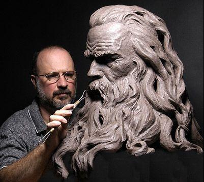 Philippe Faraut. Скульптуры из глины
