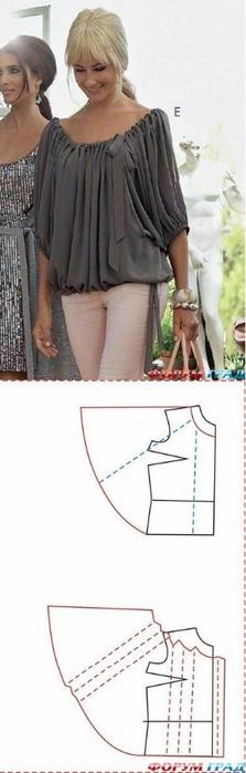 блуза выкройка