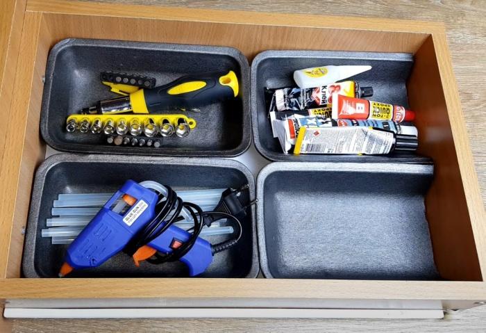 Органайзеры из мусора: как использовать коробочки, которые мы отправляем в ведро компактное хранение,организация пространства,полезные советы,хитрости