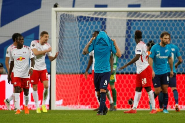 «Зенит» вылетел из Лиги Европы после ничьей с «Лейпцигом»