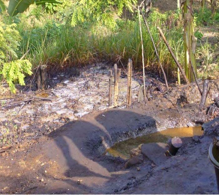 Устье, по которому скважинная продукция поступает в буферную емкость-сепаратор. в мире, добыча, индонезия, люди, нефтедобыча, нефть, скважина
