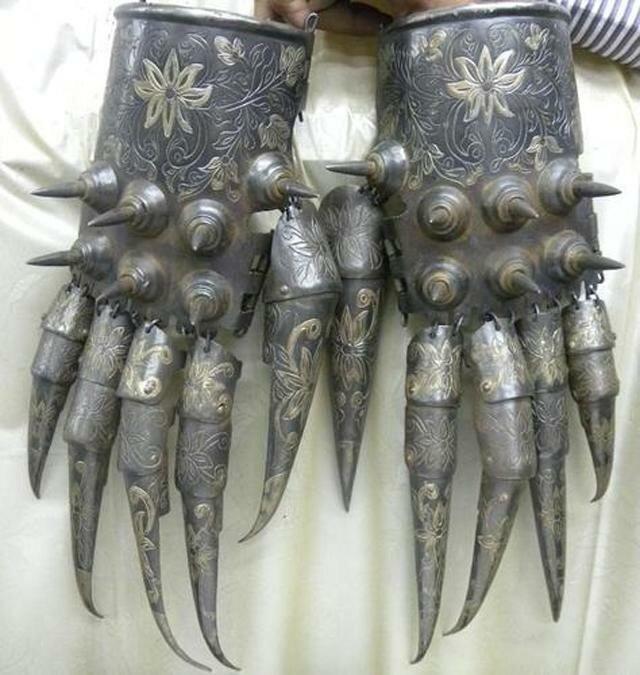 Боевые перчатки, средневековый Иран история, ретро, фото