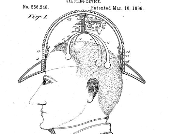 Схема прибора для поднятия шляпы