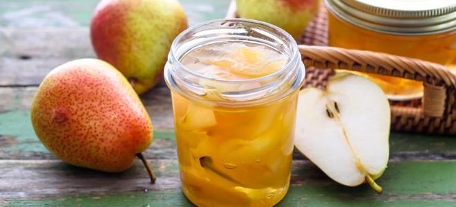 грушевое варенье с лимоном рецепт