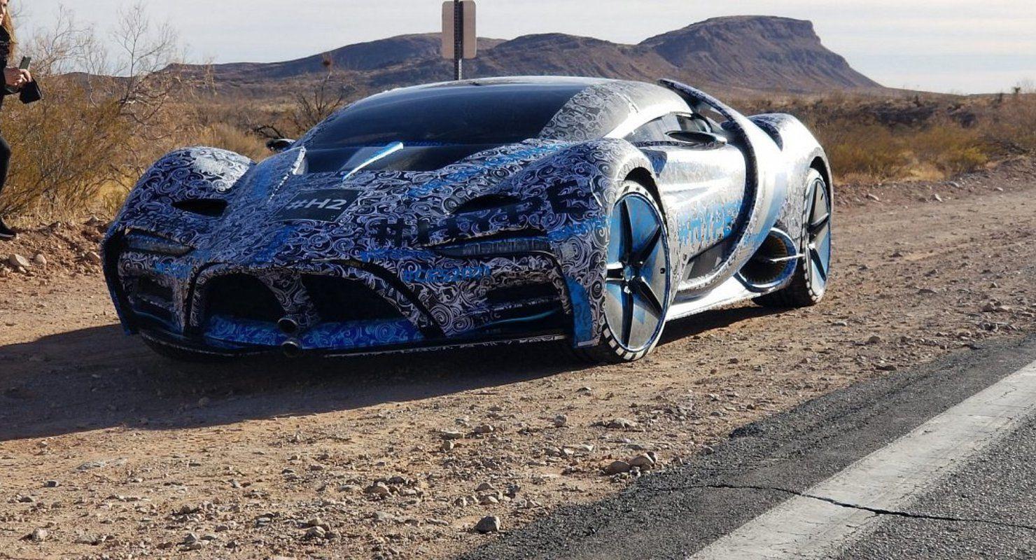 Водородный гиперкар Hyperion XP-1 заметили на тестах в Лас-Вегасе Автомобили