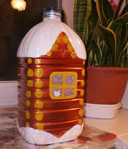 Новогодние поделки из пластиковых бутылок. Оригинальные идеи для творчества.