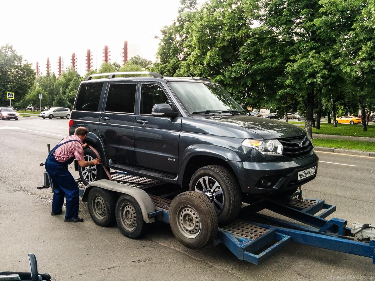 Про UAZ Patriot, или самый короткий спец-тест, который едва не кончился пожаром