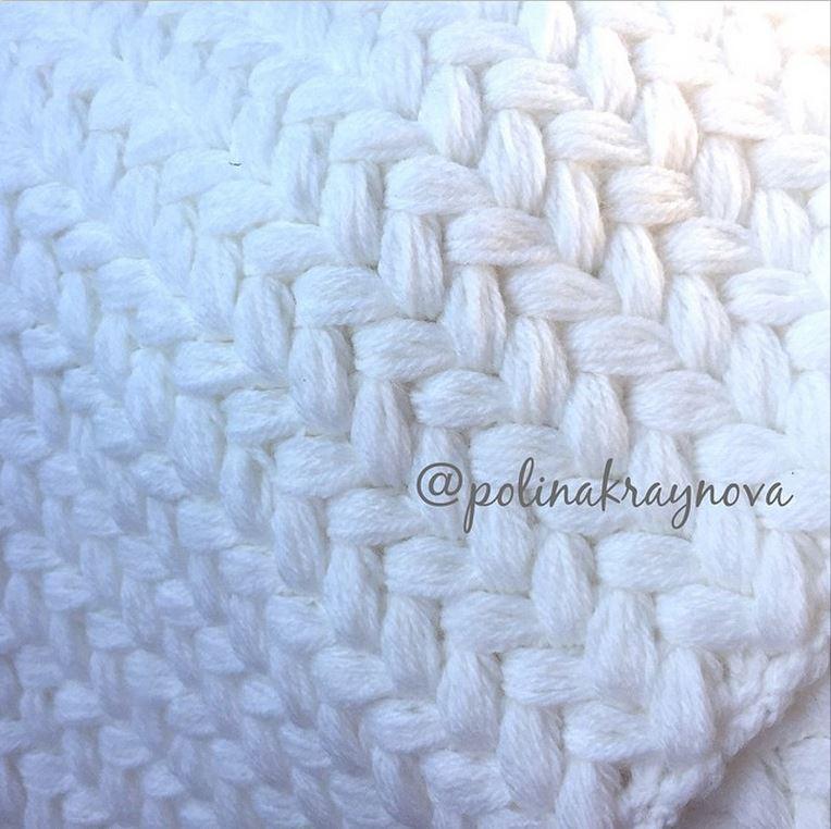 объемный плетеный узор крючком фото мк