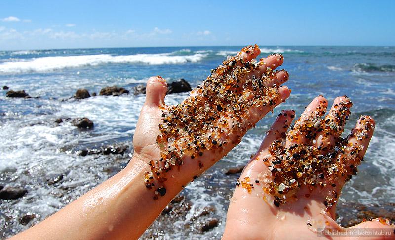 Стеклянный пляж Форт Брэгг
