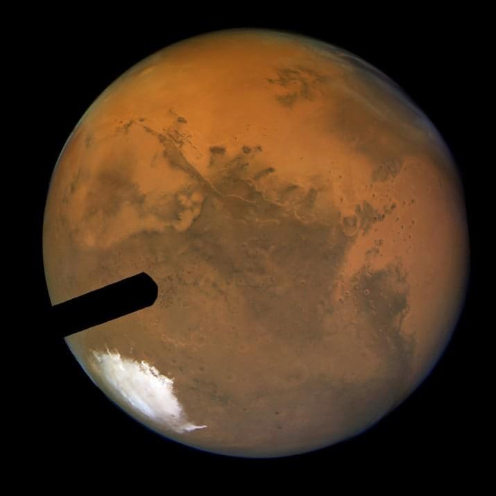 Самое четкое изображение Марса, полученное с Земли ТУМАННОСТИ, звезды, космический телескоп, космос, необычно, планеты, снимки, фото