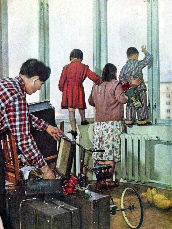 """""""Новоселье"""", фото из журнала """"Огонёк"""", 1956 г. СССР, фото, это интересно"""