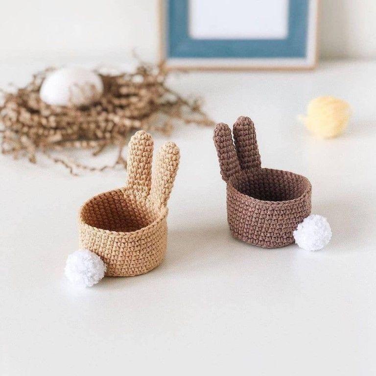 Корзиночки пасхальные для яиц вязание,декор