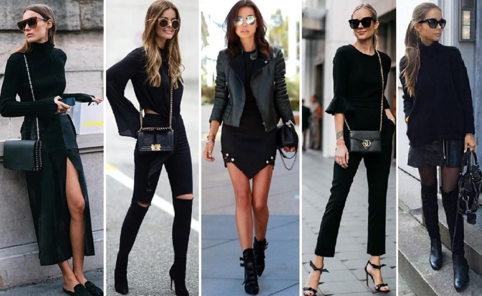 Люди в черном! С чем носить total black, чтобы выглядеть ярко и стильно
