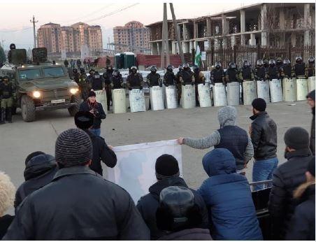 В Ингушетии расформировали батальон ППС, вставший на сторону митингующих