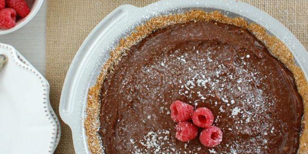 Рецепты пирогов с малиной: Пирог с шоколадно-малиновым пудингом