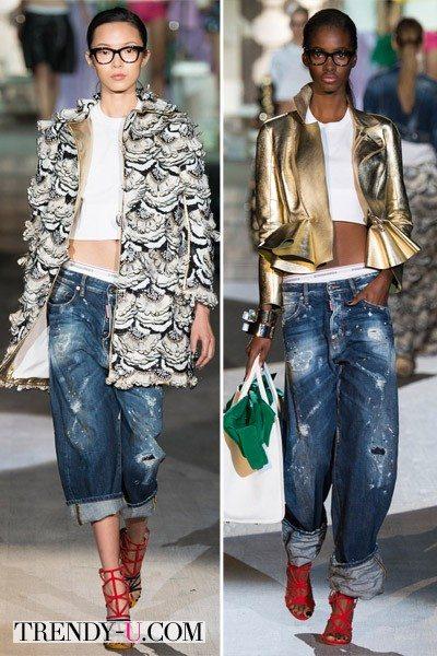 Рваные джинсы-бойфренды из коллекции DSQUARED2