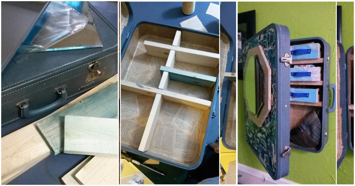 Новая жизнь старого чемодана: практичный декор интерьера