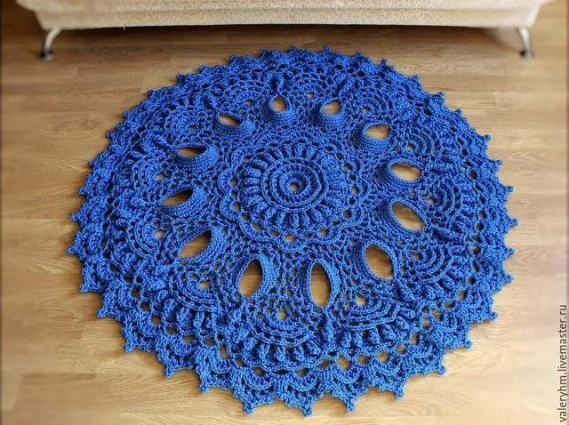 Оригинальные коврики из шнура. Идеи, схемы
