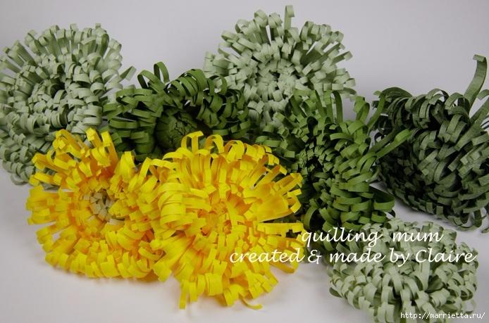 Хризантемы из бумаги. Фото мастер-класс (6) (694x459, 252Kb)
