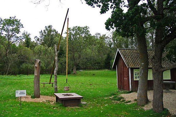 Ведьмин колодец в эстонской Тухале Ведьмин колодец,Прибалтика,Эстония