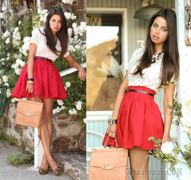 original Как сшить модную юбку из фатина, джинсы и шифона своими руками?