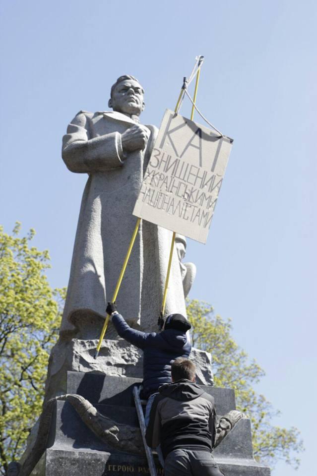 """Не-нацисты из ОУН завтра будут сносить памятник на могиле """"оккупанту Киева"""" генералу Ватутину"""