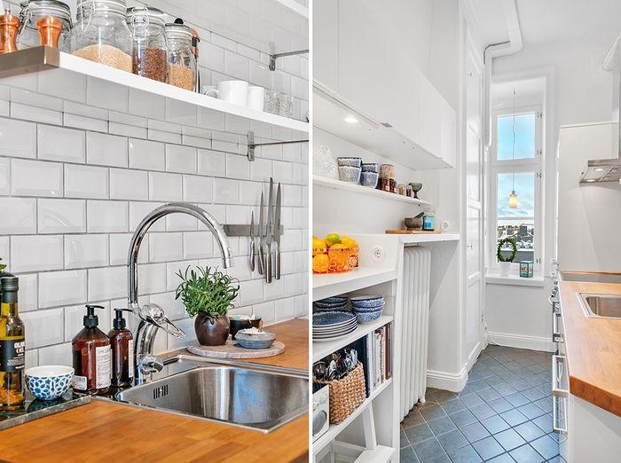Стильная маленькая кухня