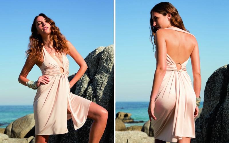 Пляжное платье-трансформер без выкройки за полчаса