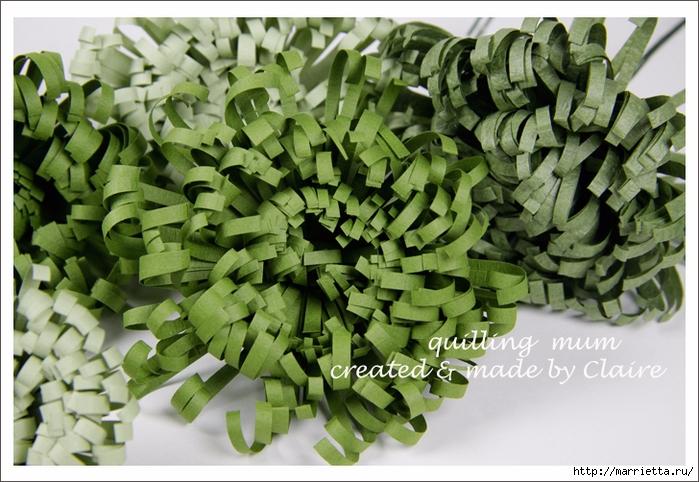 Хризантемы из бумаги. Фото мастер-класс (2) (700x482, 297Kb)