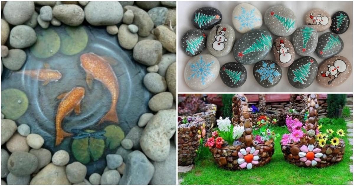 Дары моря на садовом участке. Украсьте сад и не только расписными камнями