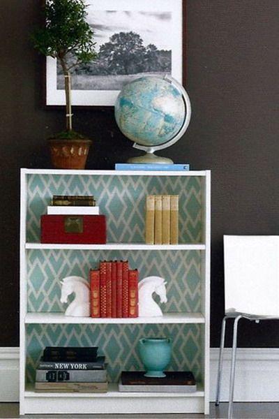 декор мебели с помощью обоев
