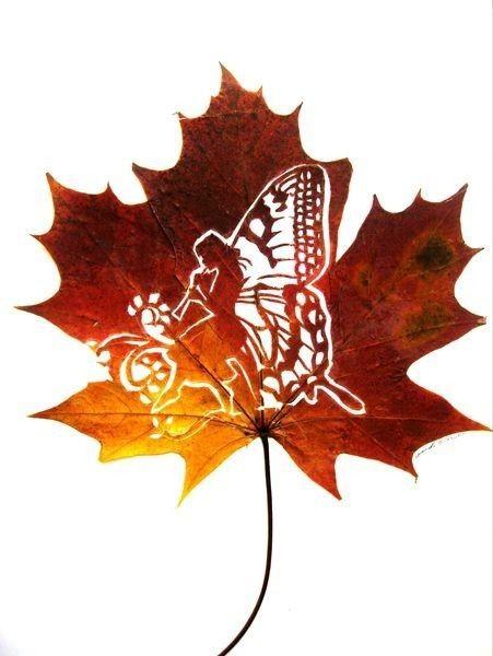 Арт из листьев вдохновляемся,творчество