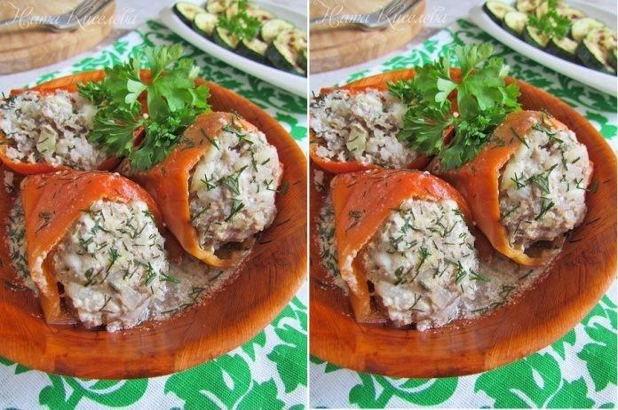 Перцы фаршированные говядиной, рисом и цуккини — объедение!