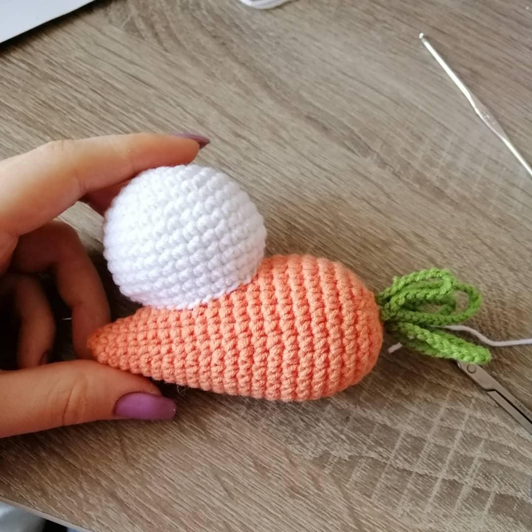 Милый вязаный зайчик с морковкой от Татьяны Лысенко вязание,игрушки,мастер-класс