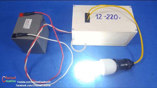 Очень простой инвертор 12В/220В своими руками