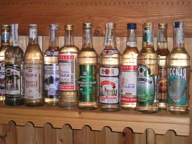 Как русские используют водку…