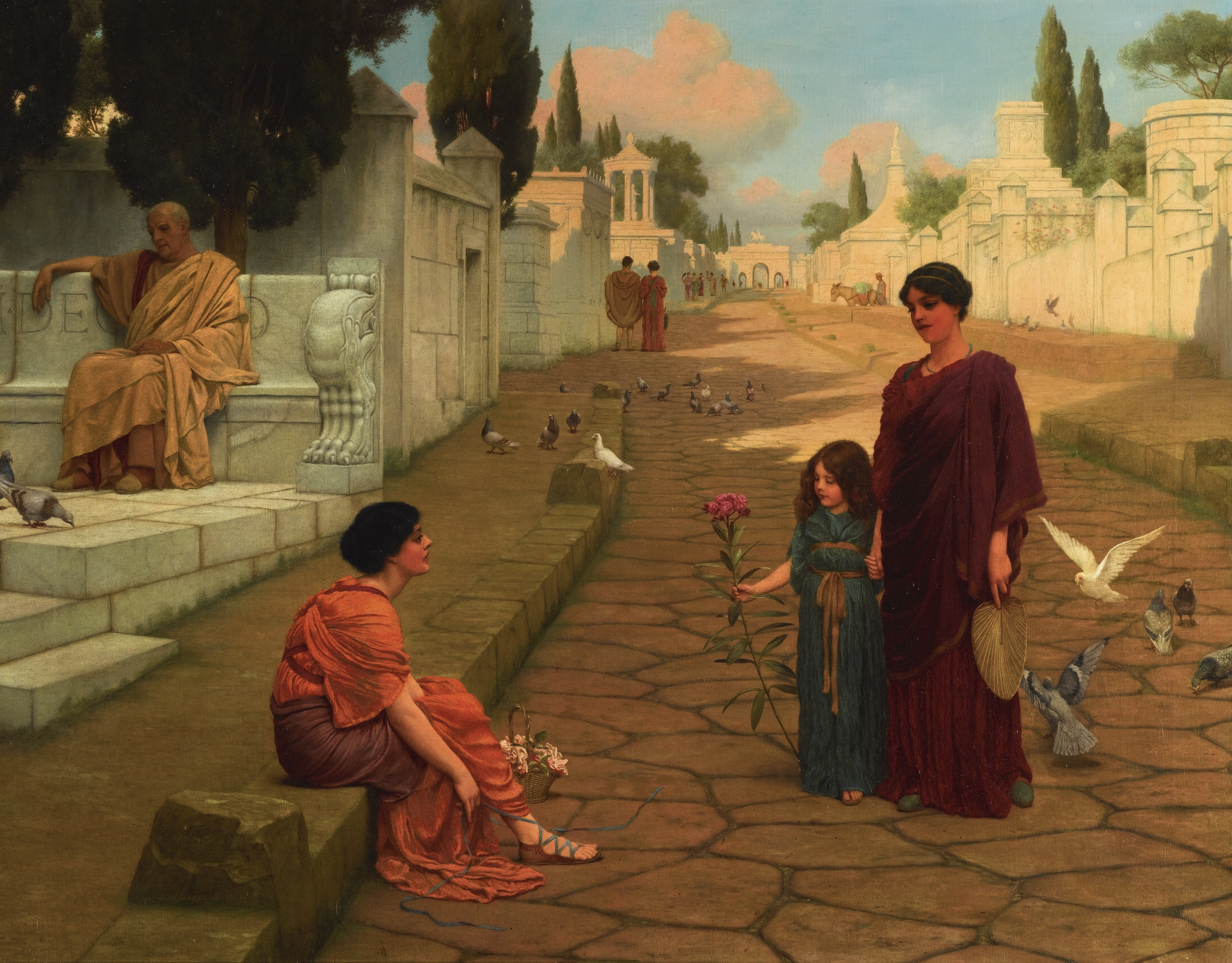 1905_За воротами Помпеи (71 х 91 5 см) (ч.с.)