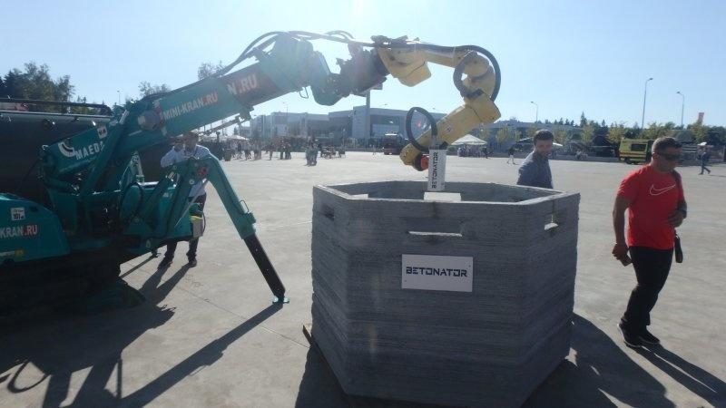 «Бетонатор»: российские разработчики представили робота-строителя укреплений