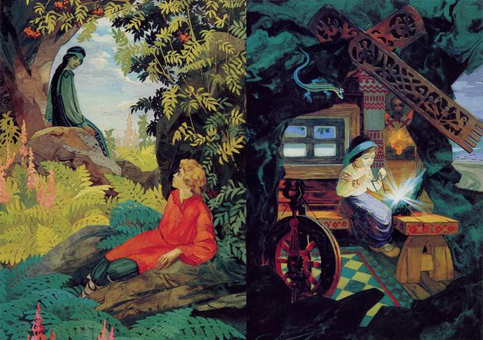 Иллюстрации к сказам Бажова, как и другие работы Назарука, полны исторически достоверных деталей.