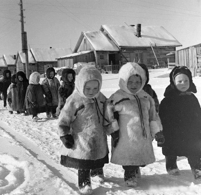 Дети в Архангельской области 1967 г. позитив, фото, это интересно