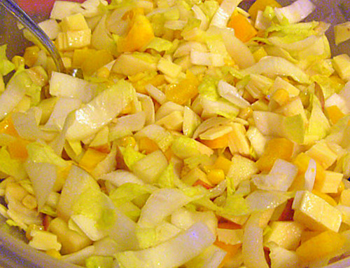 Жёлтый салат . Фото-рецепт. Olga Dell