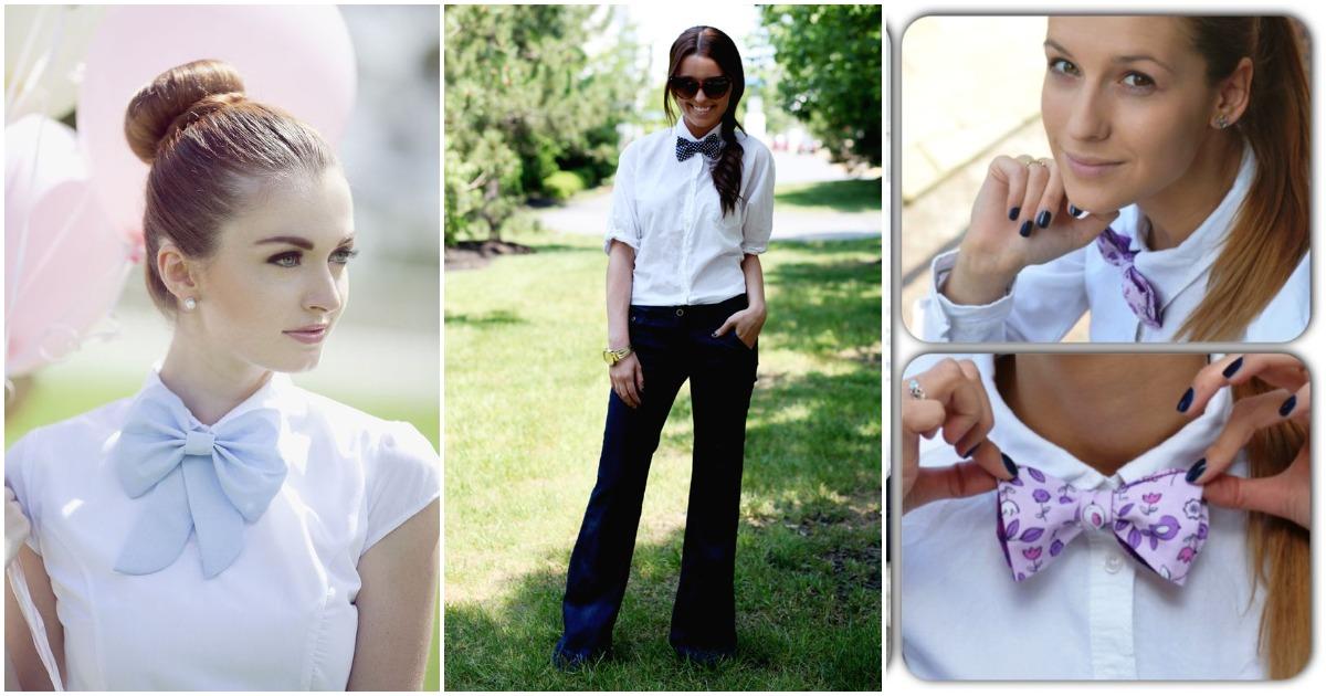 Восхитительный галстук-бабочка: 15 идей для женственного образа