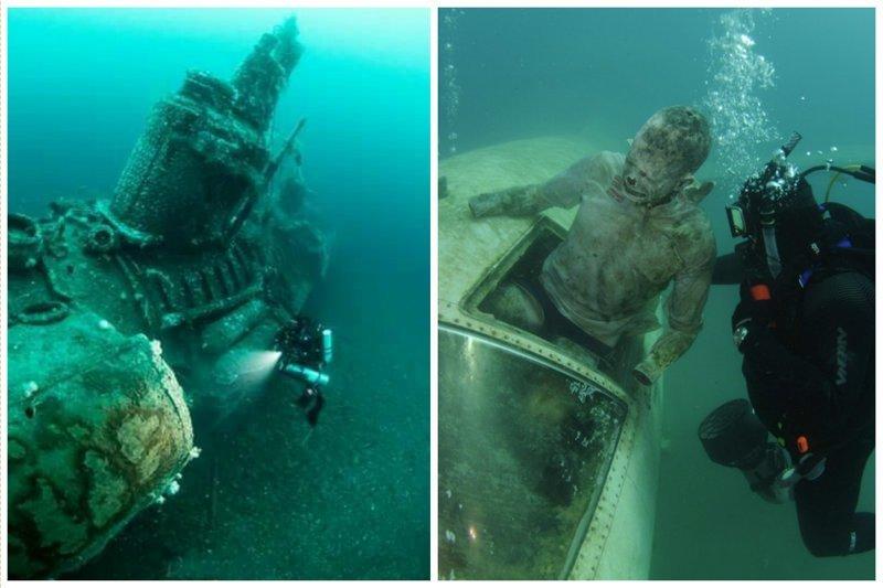 Страшно и красиво... жизнь, затонувшие, под водой, страшно, техника, удивительно