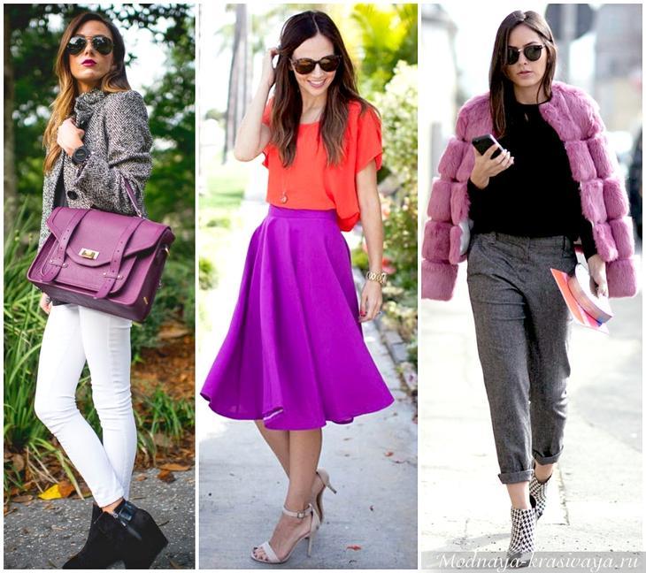 Фиолетовый цвет в одежде — сдержанность и аристократичность