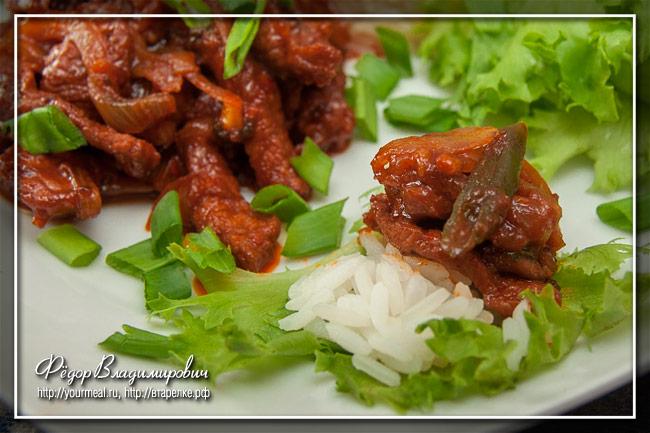 Острая свинина по-корейски Твэджи пулькоги