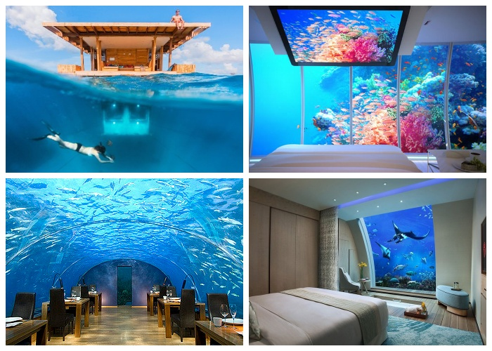Великолепные подводные отели и рестораны уже существуют.